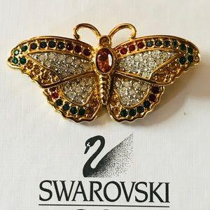 Signed Swarovski Crystal Brooch/Pin